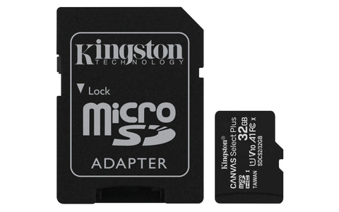 Kingston Canvas Select Plus microSD Card SDCS2/32 GB Class 10 (SD Adapter Included) 32 GB SD Adapter Included