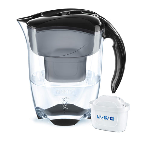 BRITA Elemaris water filter jug, MAXTRA+, Black - XL size Jug with Filter