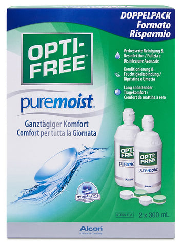 OPTI-FREE PureMoist Contact Lens Solution, 300ml, Economy Pack - Pack of 2 2x 300 ml economy pack