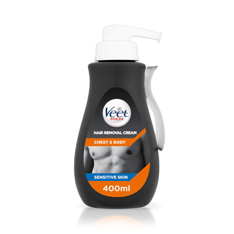 Veet Chest and Body Men Hair Removal Cream, 400 ml