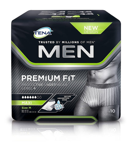 Tena For Men Premium Fit Level 4 Medium Pack of 10