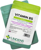 Lindens Vitamin B5 500mg Tablets | 90 Pack | 8000% Nrv Dose Contributes Towards Mental Performance, Normal Metabolism & Reduction of Tiredness