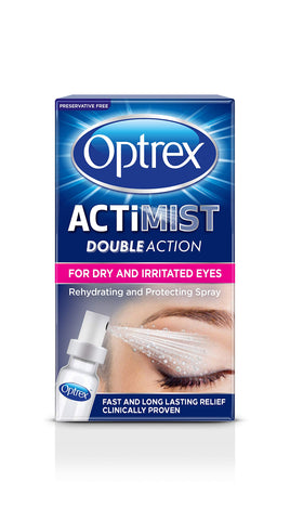 Optrex Double Action ActiMist Dry and Irritated Eyes Spray, 10 ml