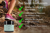 Foot Rescue Balm for Cracked Heels, Very Dry Skin & Athletes Foot Cream Treatment - 100% Natural and Certified Organic, Chemical Free Safe for Diabetics, Mint & Tea Tree (60g) Regular 60g