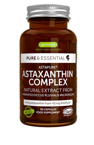 Pure & Essential Natural Astaxanthin Complex, 42 mg Astapure Delivering 4 mg Astaxanthin, 90 Vegan Capsules