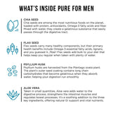 Pure for Men - The Original Vegan Cleanliness Fibre Supplement, 60 Capsules - Proven Proprietary Formula 60 Capsules with Aloe