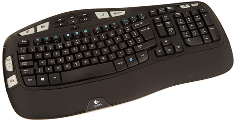 Logitech Wireless Keyboard K350 for Business UK layout, Black