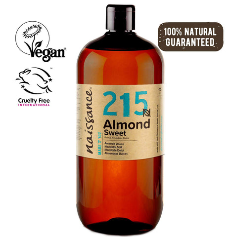 Naissance Sweet Almond Oil (no. 215) 1 Litre - Natural, Cruelty Free, Vegan, No GMO