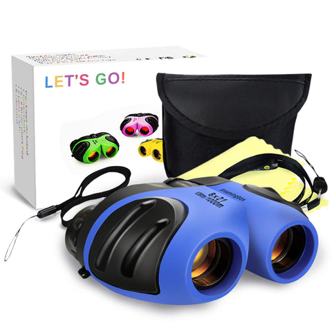 DMbaby Compact Waterproof Binocular for Kids - Best Gifts Style3 Blue