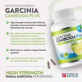 Garcinia Cambogia - 90 Capsules - 1500mg Daily Dosage - Premium Quality Supplement - UK Made - Vegetarian & Vegan Suitable - Optimum Strength for Maximum Results - Garcinia Clean for Men & Women 90 Vegetarian Capsules