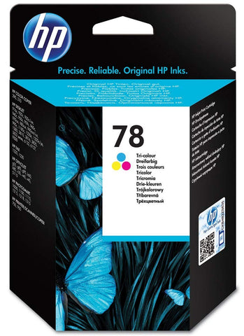 HP C6578D 78 Original Ink Cartridge, Tri-Colour, Single Pack Standard
