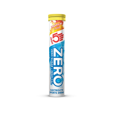 HIGH5 ZERO Electrolyte Hydration Tablets Added Vitamin C - (Tropical, 20 Tab Tube) Tropical 20 Count (Pack of 1)