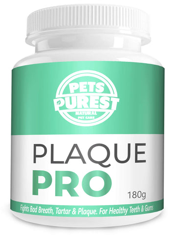 Pets Purest 100% Natural Plaque Off, Plaque Remover & Tartar Remover For Dogs, Cats & Pets (180g) Breath Freshener Dental Care Prevents Plaque & Tartar Build Up Freshens Breath Prevent Gum Disease 180g