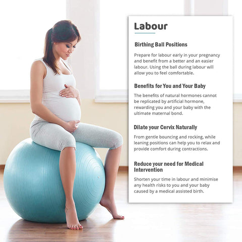 Babygo Birthing Ball Pregnancy Maternity Labour Yoga Ball With Free Verdure Plus
