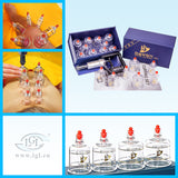 Hansol Professional Cupping Therapy Equipment Set with pumping handle 10 Cups & English Manual (Made in Korea