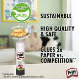 Pritt Glue Stick, Safe & Child-Friendly Craft Glue for Arts & Crafts Activities, Strong-Hold adhesive for School & Office Supplies, 3x22 g Pritt Stick 1 White