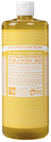 Dr Bronner's 946 ml Organic Citrus Castile Liquid Soap Pack of 1