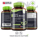 Maca Root Capsules 3500mg - 180 Vegan High Strength Capsules - 6 Months Supply - Made in The UK by Nutravita