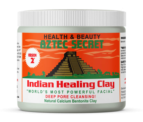 Aztec Secret - Indian Healing Clay 1 lb. (450 Grams) - Deep Pore Cleansing Facial & Body Mask - The Original 100% Natural Calcium Bentonite Clay - New Version 2