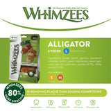 WHIMZEES Natural Dental Dog Chews Long lasting, Small Alligator, 24 Pieces Small Dogs