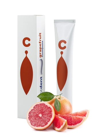 ClearDOT DENT Grapefruit Natural Toothpaste Complete Oral Care, Fluoride, Paraben and Sugar Free - Removes Plaque and Bad Breath, Prevents Tooth Decay and Bleeding Gums for Lasting Fresh Breath 75ml