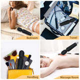 H&L Mini Magic Wand Massager, Wireless Portable Electric Handheld Massage Stick 20 Modes* 8 Speeds, Personal Body Massager for Back Neck Shoulder Legs Arms Feet, USB Charging, ABS Silicone, Black