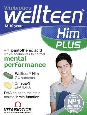Vitabiotics Wellteen Him Plus - 56 Tablets/Capsules