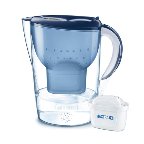 BRITA Marella water filter jug, MAXTRA+, Blue - XL size Jug and Filter