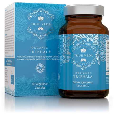 Organic Triphala Capsules - Certified Organic by Soil Association | Potency Due to Natural Fusion Extract | 100% Natural Supplement | Vegan & Vegetarian Friendly | Ayurveda | 60 Tablets | Made in UK
