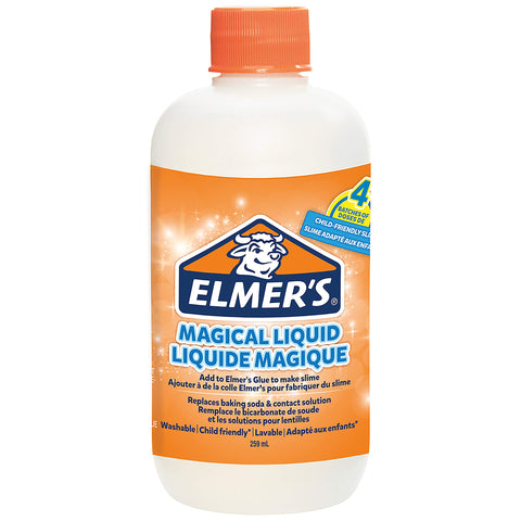Elmer's Glue Slime Magical Liquid Slime Activator Solution, Ideal for Making Slime, Makes Four Batches of Slime, 258.77 ml