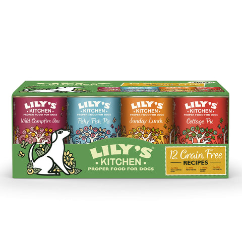 Lily's Kitchen Grain Free Multipack Wet Dog Food (12 x 400g) Pack of 12