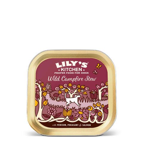 Lily's Kitchen Adult Wild Campfire Stew Wet Dog Food (10 x 150g) With Venison, Pheasant and Salmon Pack of 10