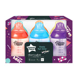 Tommee Tippee Closer to Nature Fiesta Bottles, 260 ml, 6 Count