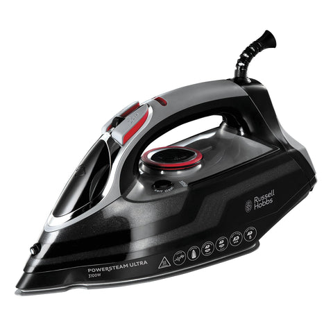 Russell Hobbs Powersteam Ultra 3100 W Vertical Steam Iron 20630 - Black and Grey Iron Only