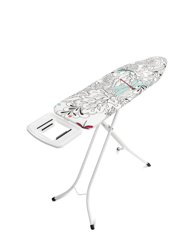 Brabantia Dragonfly Ironing Board with Solid Steam Iron Rest, L 124 x W 38 cm, Size B Standard Iron Rest
