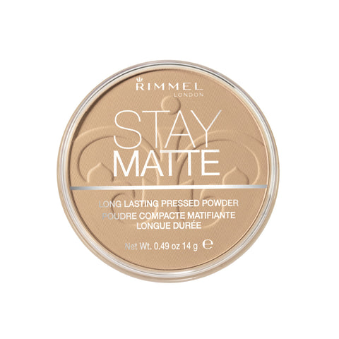 Rimmel London Stay Matte Pressed Powder, 6 Warm Beige, 14 g Champagne/Warm Beige