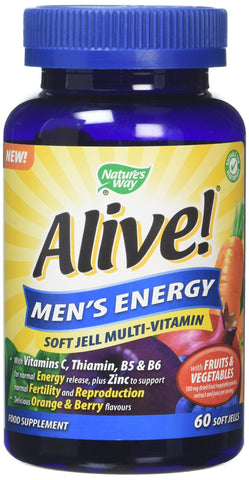 Alive! Men's Energy Multi-Vitamin 60 Soft Jells, 240 g