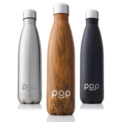 POP Water Bottle Design | Keeps Cold 24hrs. or Hot for 12hrs. | Sweat & Leak-Proof | Narrow Mouth & BPA Free | 500ml or 750ml | 3 Colors 750 Milliliter Zebrana