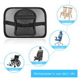 SANLINKEE Mesh Back Support for Office Chair, Mesh Lumbar Support Chair Back Support with Elastic Strap Back Rest for Office Chair/ Car Seat / Back Pain Relief Black