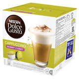 NESCAFÉ DOLCE GUSTO Cappuccino Skinny/Light Coffee Pods, 16 Capsules (Pack of 3 - Total 48 Capsules, 24 Servings)