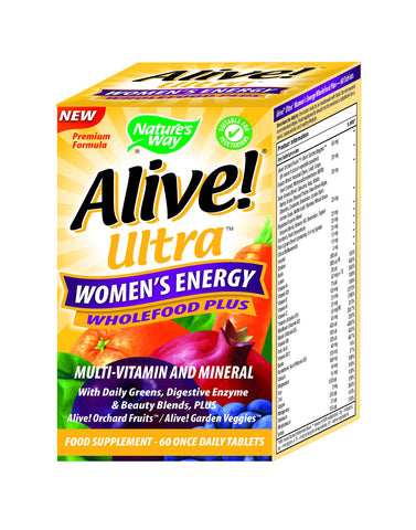 Nature's Way ALIVE! Ultra Women's Energy Wholefood Plus 60 Tablets