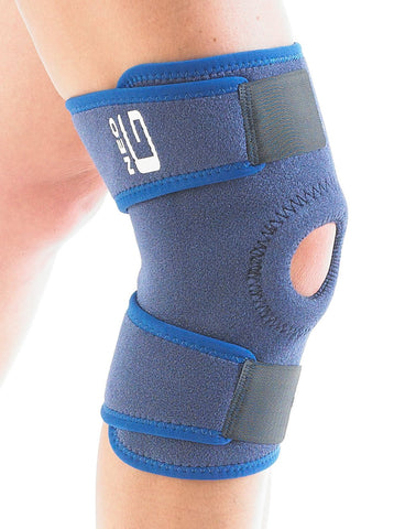 Neo G Open Knee Support - for Arthritis, Joint Pain Relief, Meniscus Pain, Recovery, Gym, Sports, Basketball, Running, Skiing - Adjustable Compression - Class 1 Medical Device - 1 Size - Blue