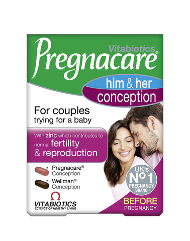 Pregnacare Vitabiotics His and Her Conception, 60 Tablets