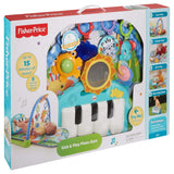 Fisher-Price BMH49 Kick and Play Piano Gym, New-Born Baby Play Mat with Activity Centre, Music and Sounds, Suitable from Birth Green