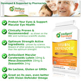 Lutein, Zeaxanthin & Meso-Zeaxanthin Eye Supplement: Vision Defender MAC-Shield Your Eyes, Save Your Eyesight, Vegan/Vegetarian Antioxidant Carotenoids for Eyes (90 Capsules/One-A-Day) Made in UK