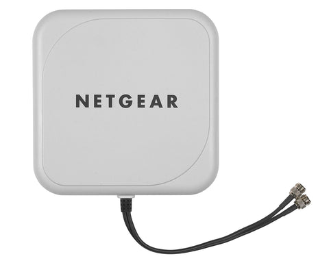 NETGEAR ProSAFE Indoor/Outdoor 10dB 2x2 Directional Antenna, 802.11n, N Jack Male Connector (ANT224D10-10000S)