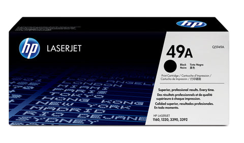 HP Q5949A 49A Original LaserJet Toner Cartridge, Black, Single Pack Standard