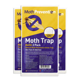 POWERFUL CLOTHES MOTH TRAP 6x Replacement Strips | For MothPrevention Clothes Moth Traps | Odor-free & Natural | Best Catch-Rate for Clothes Moth Traps on the Market! - Results Guaranteed