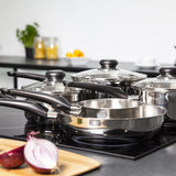 Morphy Richards Equip 5-Piece Pan Set - Stainless Steel 5 Piece Set
