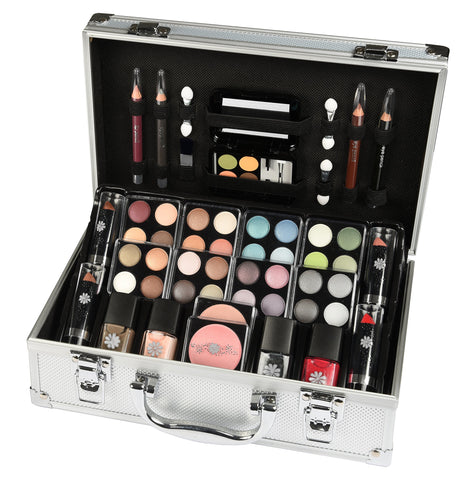 Vanity Case Beauty Cosmetic Set Gift Travel Make Up Box Train Storage 51 Piece